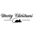 happy christmas greeting in black and white on a vector image vector image
