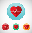 Heart rate monitor icon set vector image vector image