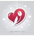 Heart with flower vector image vector image