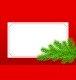 holiday christmas frame vector image