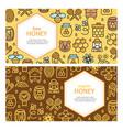honey signs banner card horizontal set vector image vector image