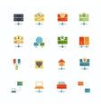 Hosting Flat Icons vector image vector image