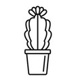 indoor flower cactus icon outline style vector image vector image