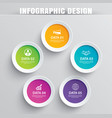infographics circle paper with 5 data template vector image vector image