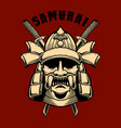 japan samurai warrior design element for poster vector image