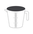 Jar with handle and measure scale black silhouette vector image