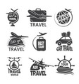 label or logos forma travelling theme vector image vector image