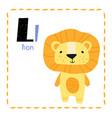 letter l funny alphabet for children vector image