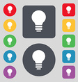 Light lamp Idea icon sign A set of 12 colored vector image vector image