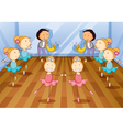 Little Dancing Kids vector image