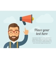 Man pointing the megaphone icon vector image