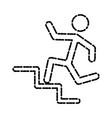 man running pictogram vector image vector image