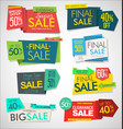 modern sale banners and labels collection 1 vector image