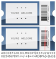 modern shiny tickets vector image vector image