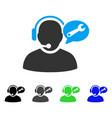 Operator service message flat icon
