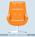 Orange modern armchair over light background Digit vector image vector image