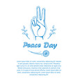 peace day poster on 21 september 2017 text vector image vector image