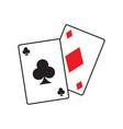 poker icon graphic design template vector image vector image