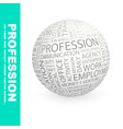 PROFESSION vector image vector image