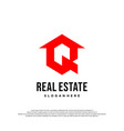 real estate property and construction logo vector image vector image