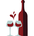 red wine vector image vector image