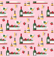 restaurant meal and drinks seamless pattern vector image vector image