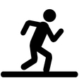 Running Men Icon vector image vector image