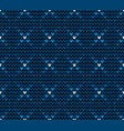 seamless blue knitting pattern vector image vector image