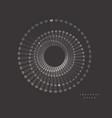 set abstraction digital circles vector image