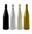 Set realistic black white pearl and gold bottle vector image