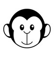 simple cartoon a cute monkey vector image vector image