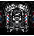 skull babershop esport mascot logo vector image