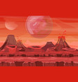 space landscape with red vector image vector image