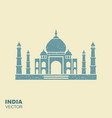 taj mahal silhouette flat icon with scuffing vector image vector image