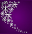 this is a christmas background with snowflakes vector image vector image