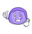 thumbs up blueberry roll cake character cartoon vector image