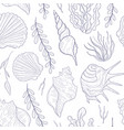 undersea world seamless pattern marine theme vector image