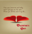 valentine greeting hearts drawing vector image