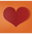 Valentines Day realistic red holiday Card vector image vector image