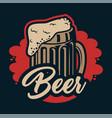 vintage beer colorful badge