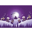Violet Christmas night vector image vector image