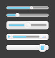 web buttons interface sliders of vector image