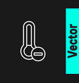 white line meteorology thermometer measuring icon vector image vector image