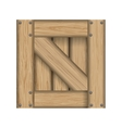 Wood material box square icon graphic vector image vector image