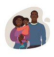 young african-american family mom dad girl vector image vector image