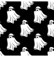 Seamless pattern of white Halloween ghosts vector image