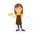 Waitress cartoon icon vector image