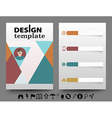 Infographic brochure vector image