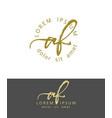 a f initials monogram logo design dry brush vector image vector image