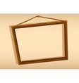 A wooden hanging frame vector image